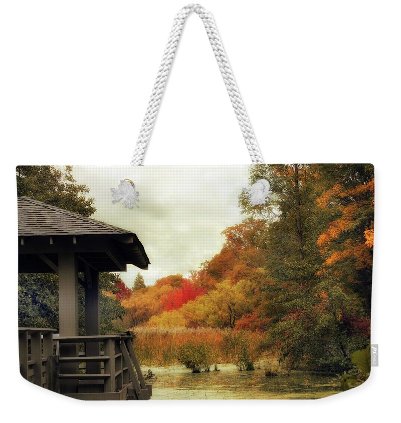 Nature Weekender Tote Bag featuring the photograph Sunset Horizon by Jessica Jenney