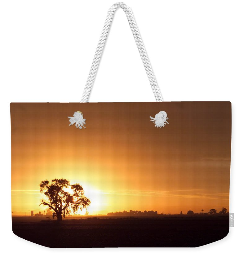 Sunset Weekender Tote Bag featuring the photograph Sunset In Arizona by Scott Sawyer