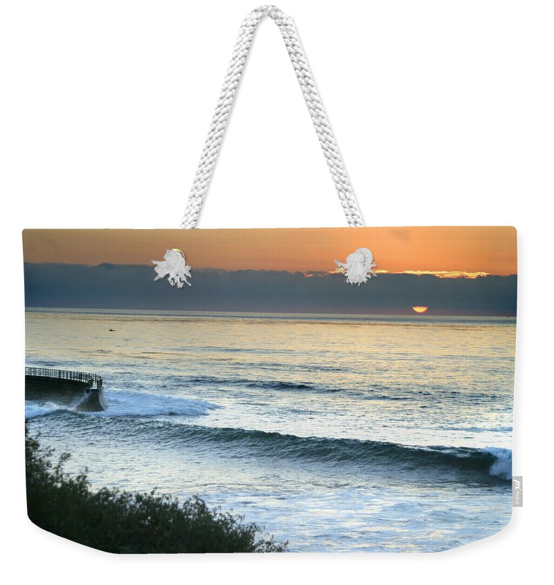 Sunset Weekender Tote Bag featuring the photograph Sunset In La Jolla by Anthony Jones