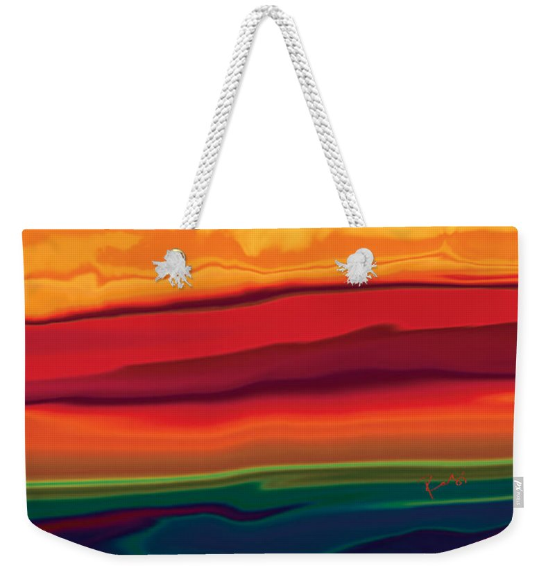 Art Weekender Tote Bag featuring the digital art Sunset In Ottawa Valley 1 by Rabi Khan