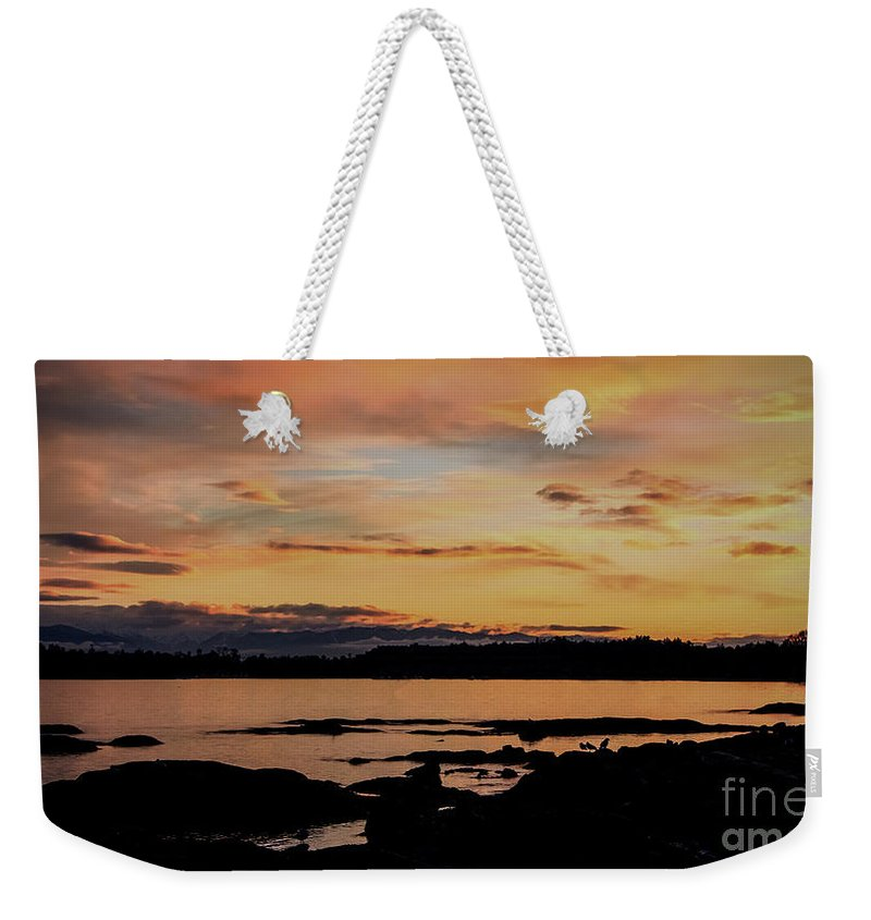 Bc Tourism Weekender Tote Bag featuring the photograph Sunset In Paradise by Dorothy Hilde