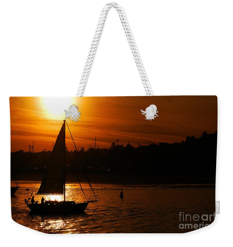 Clay Weekender Tote Bag featuring the photograph Sunset In Southern California by Clayton Bruster