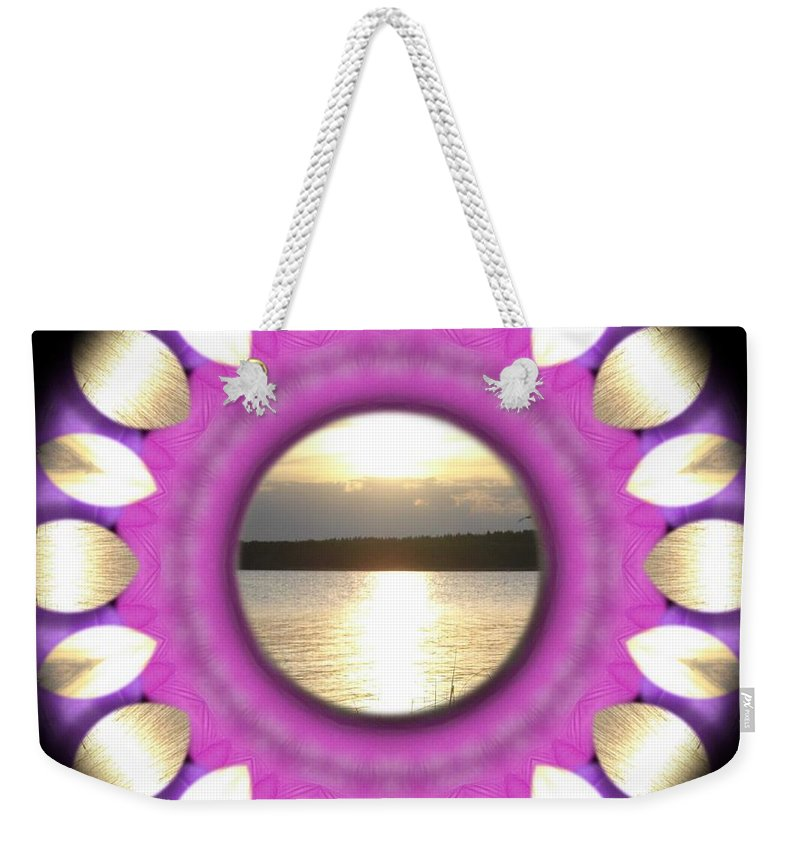 Sunset Weekender Tote Bag featuring the mixed media Sunset In Summertime by Pepita Selles