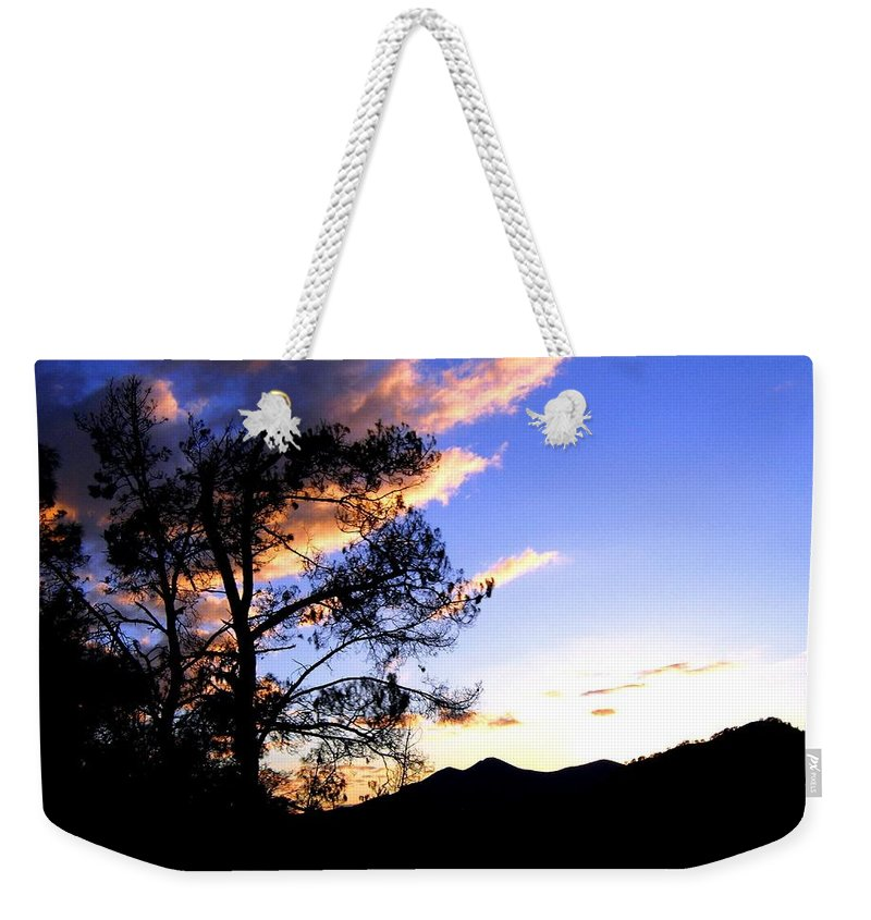 Sunset Weekender Tote Bag featuring the photograph Sunset In The Highlands by Will Borden