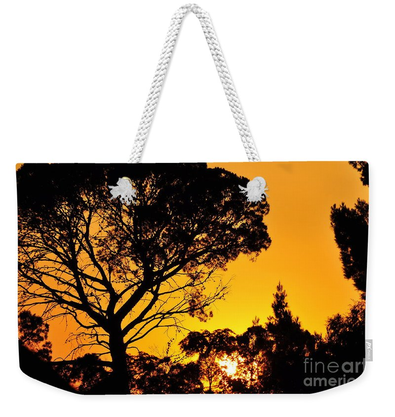 Clay Weekender Tote Bag featuring the photograph Sunset In Tujunga by Clayton Bruster
