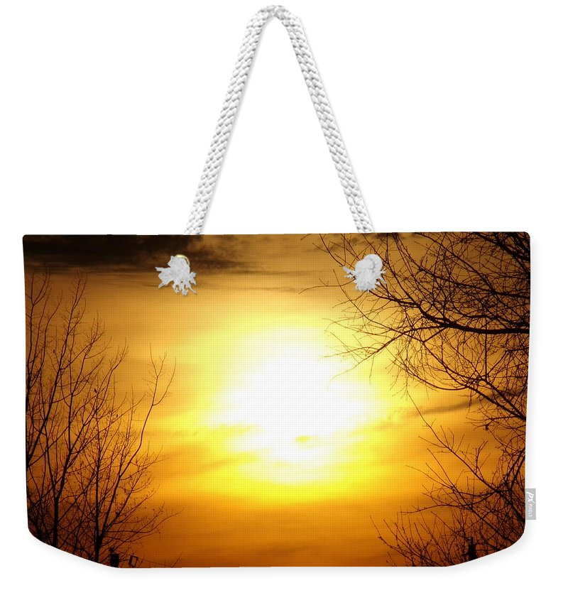 Sunset Weekender Tote Bag featuring the photograph Sunset by Kayla Chapel