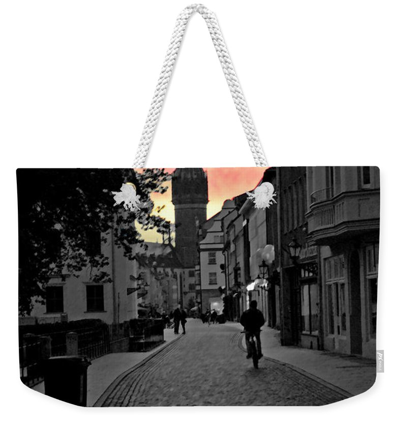 Wittenberg Weekender Tote Bag featuring the photograph Sunset Of Castle Church by Jost Houk