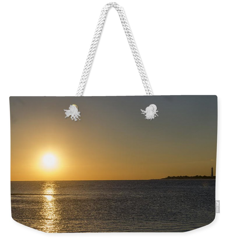 Sunset Weekender Tote Bag featuring the photograph Sunset Off Of Cape May by Bill Cannon