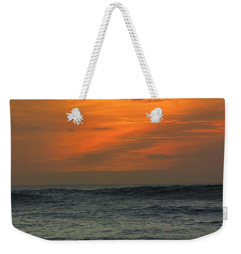 Hawaii Weekender Tote Bag featuring the photograph Sunset Ohau by Sarah Houser