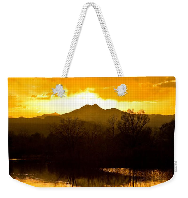 Sunset Weekender Tote Bag featuring the photograph Sunset On Golden Ponds by James BO Insogna