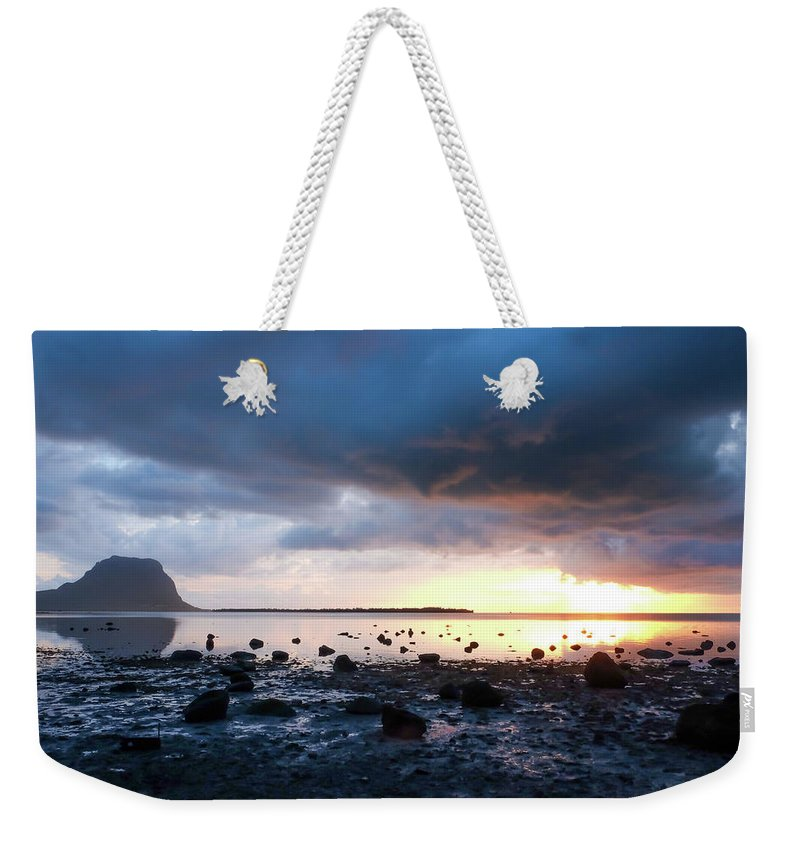 Sunset Weekender Tote Bag featuring the photograph Sunset On Le Morne by Clic- Cat