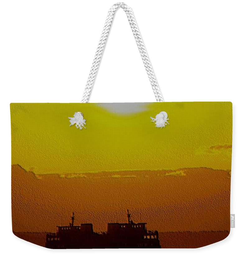 Seattle Weekender Tote Bag featuring the photograph Sunset On Puget Sound by Tim Allen