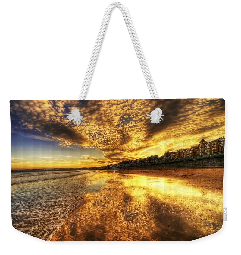 Sunset Weekender Tote Bag featuring the photograph Sunset On The Beach by Svetlana Sewell