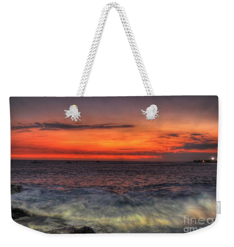Kona Weekender Tote Bag featuring the photograph Sunset On The Harbor by Paulette B Wright