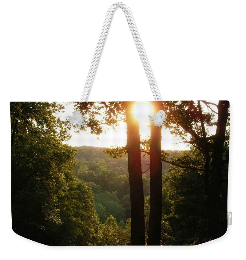 Sunset Weekender Tote Bag featuring the photograph Sunset On The Trace by Nelson Strong