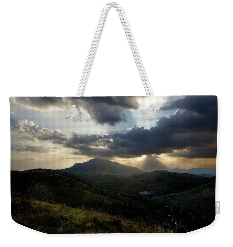 Indian Springs Weekender Tote Bag featuring the photograph Sunset over Indian Springs by Roy Nierdieck