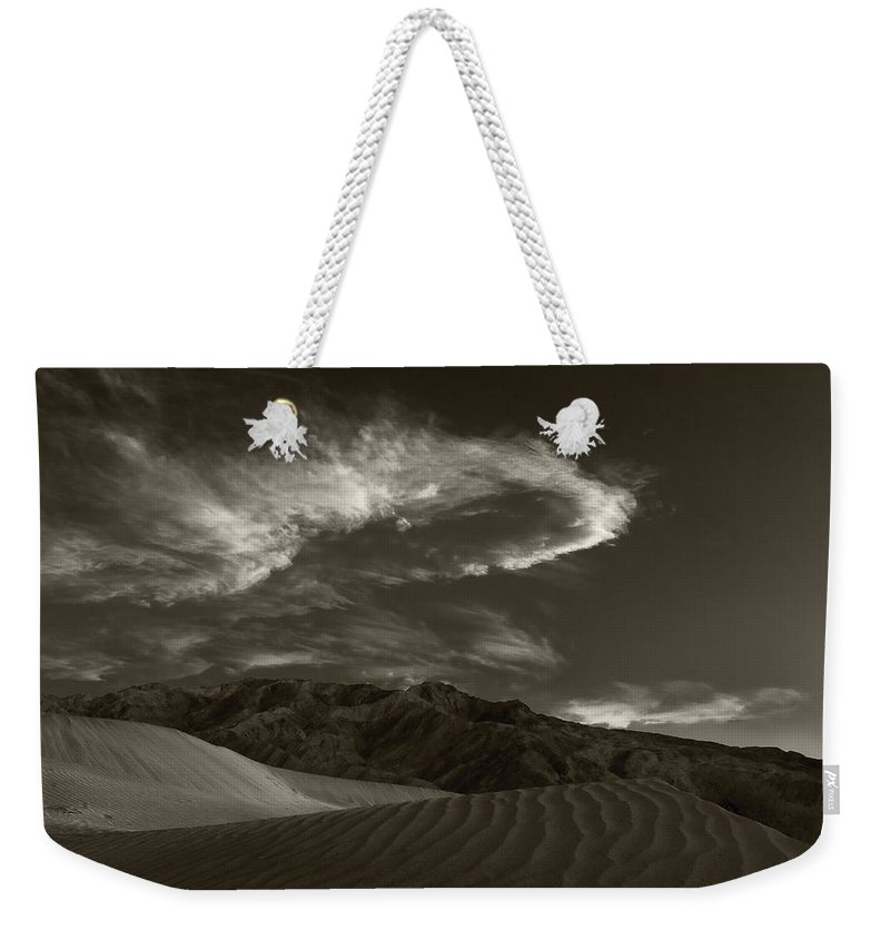 Death Weekender Tote Bag featuring the photograph Sunset Over Sand Dunes Death Valley by Steve Gadomski