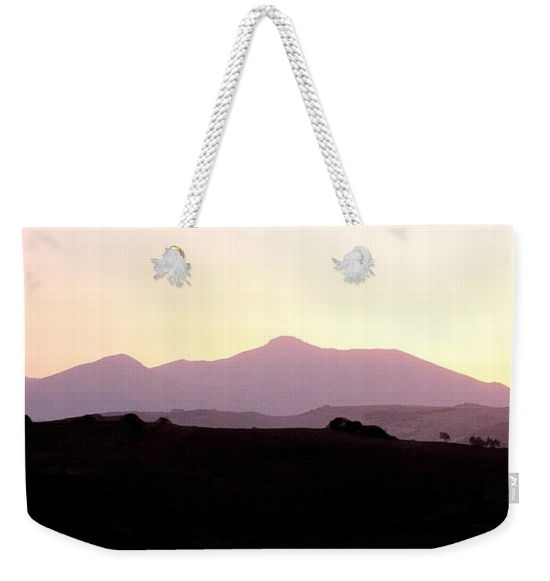 Spain Weekender Tote Bag featuring the photograph Sunset Over The Andalucian Mountains Near Villanueva De La Concepcion by Mal Bray