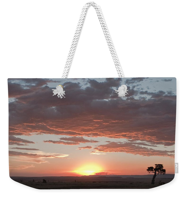 Africa Weekender Tote Bag featuring the photograph Sunset Over The Mara by Colette Panaioti