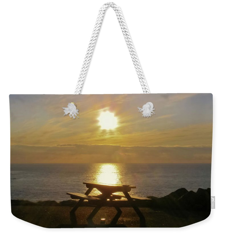 Sunset Weekender Tote Bag featuring the photograph Sunset Picnic by Terri Waters