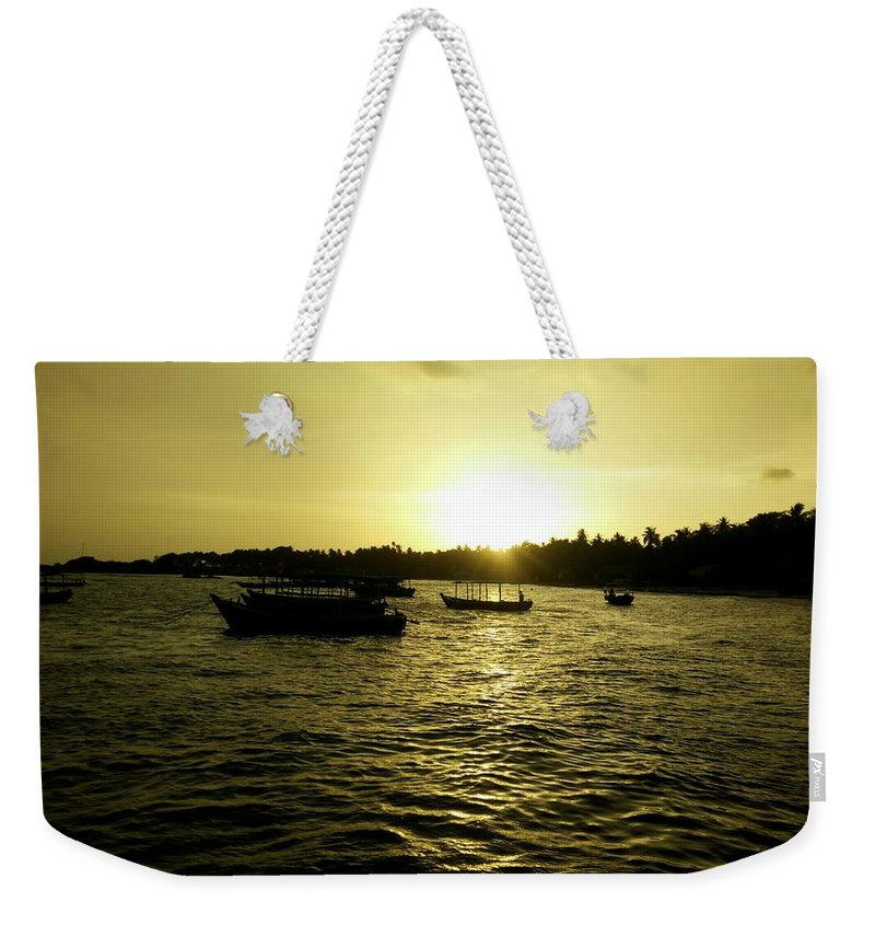 Sunset Weekender Tote Bag featuring the photograph Sunset Point by Evan Dantas