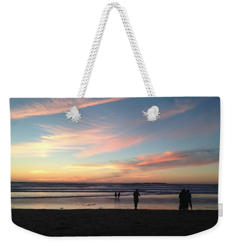Ocean Weekender Tote Bag featuring the photograph Sunset by Shari Chavira
