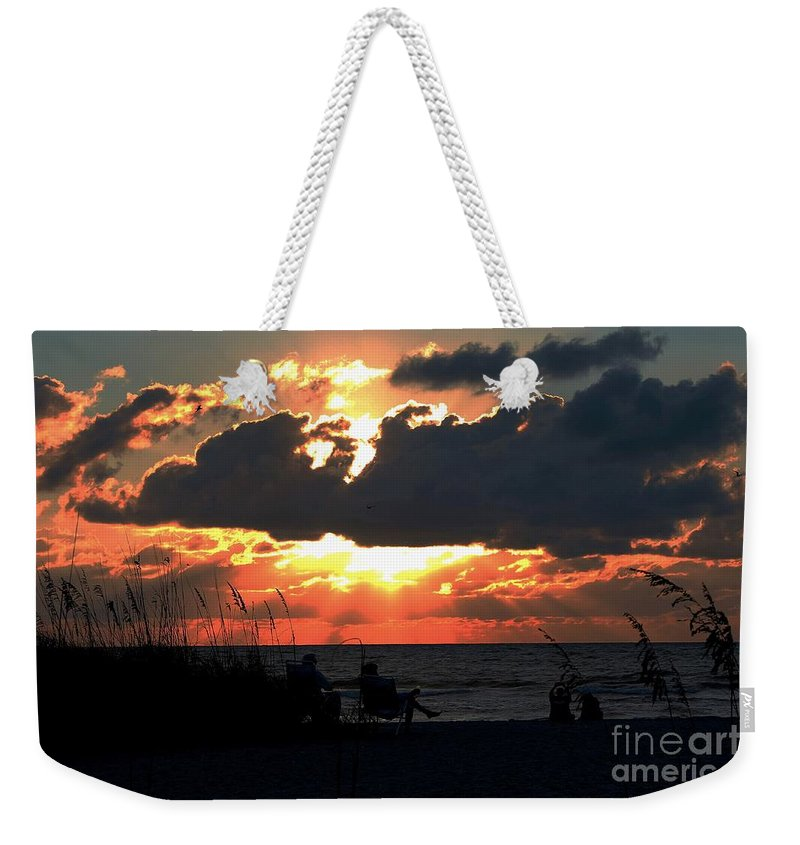 Photo For Sale Weekender Tote Bag featuring the photograph Sunset Silhouettes by Robert Wilder Jr