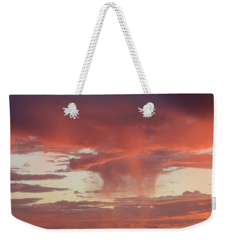 Landscape Weekender Tote Bag featuring the photograph Sunset Sky by Nina Prommer