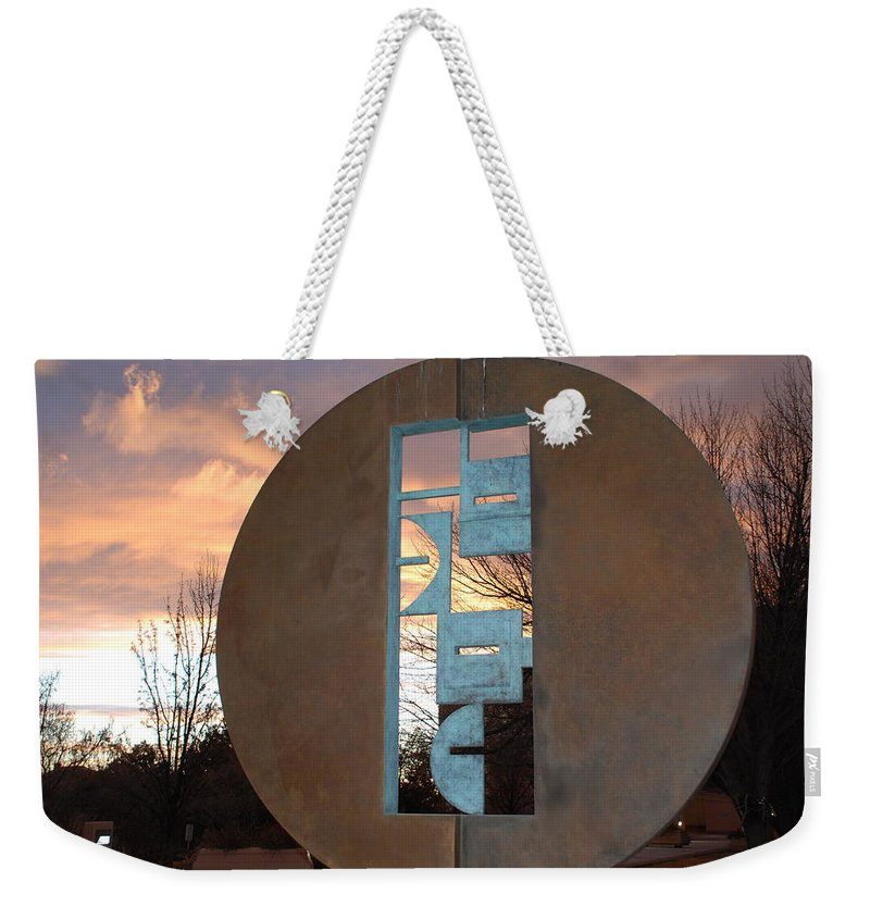Pop Art Weekender Tote Bag featuring the photograph Sunset Thru Art by Rob Hans