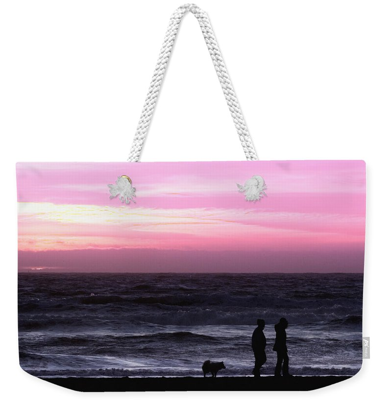 Nature Weekender Tote Bag featuring the photograph Sunset Walk by John K Sampson