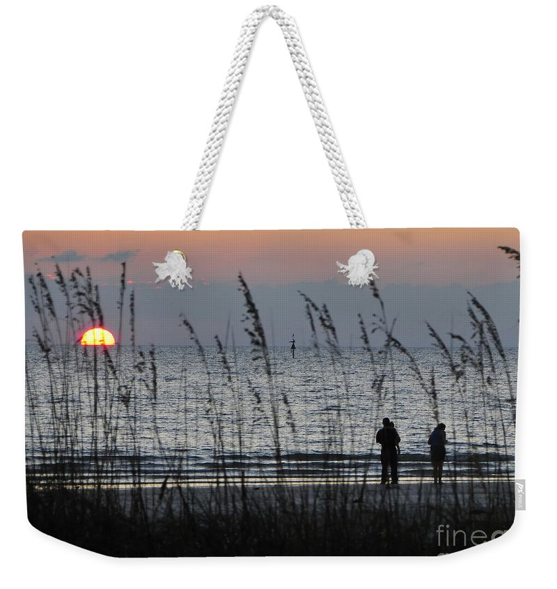 Sunset Weekender Tote Bag featuring the photograph Sunset Watching by David Lee Thompson