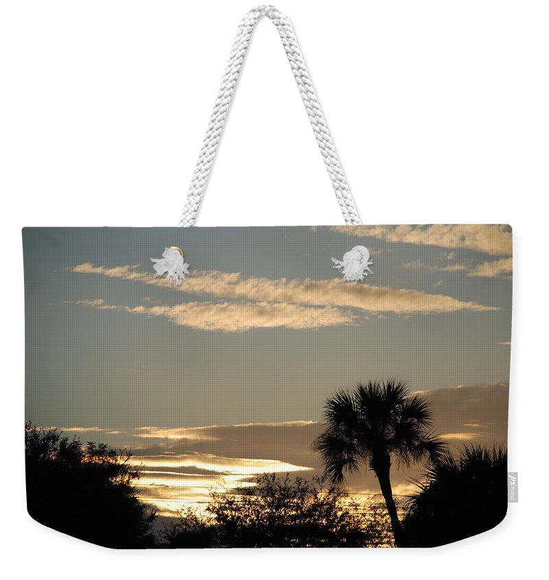 Clouds Palm Trees Weekender Tote Bag featuring the photograph Sunsets In The West by Rob Hans