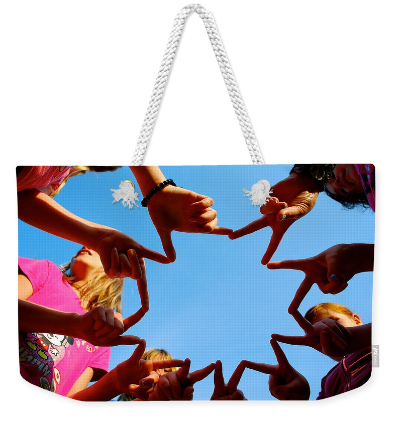 Sun Weekender Tote Bag featuring the photograph Sunshine Gang by Lisa Knechtel