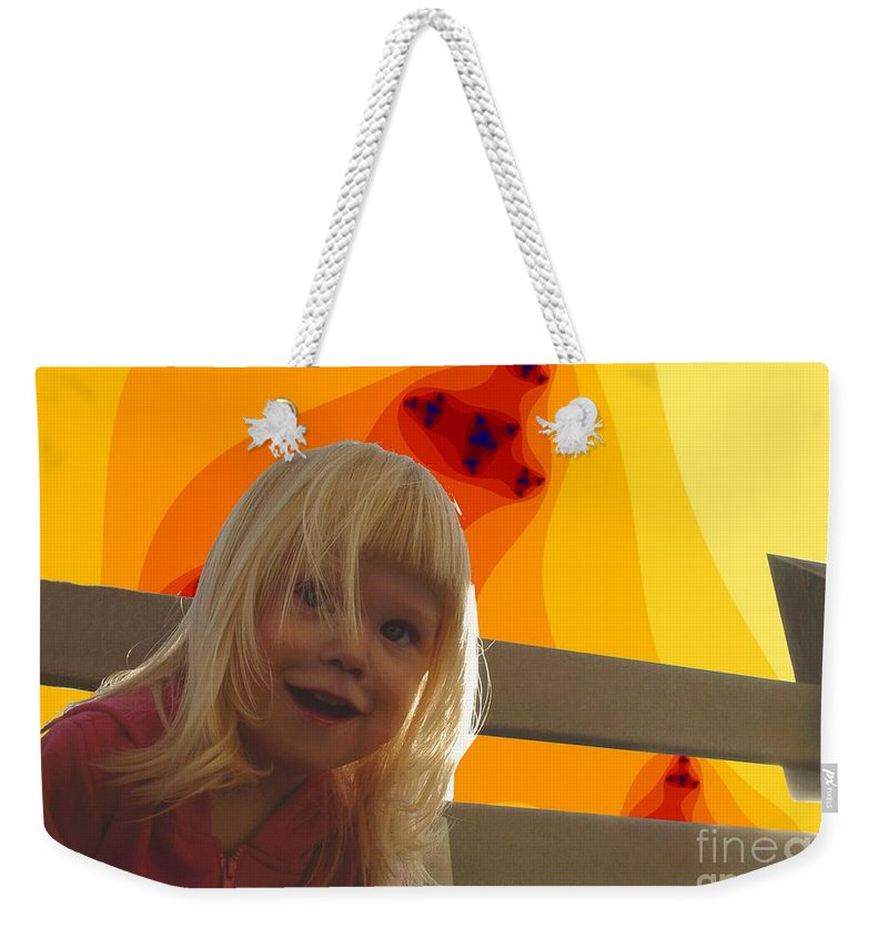 Happy Face Weekender Tote Bag featuring the photograph Sunshine Makes Me Happy by Ron Bissett