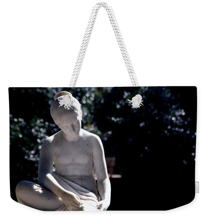 Sculpture Weekender Tote Bag featuring the photograph Sunshine On My Shoulders by Susanne Van Hulst