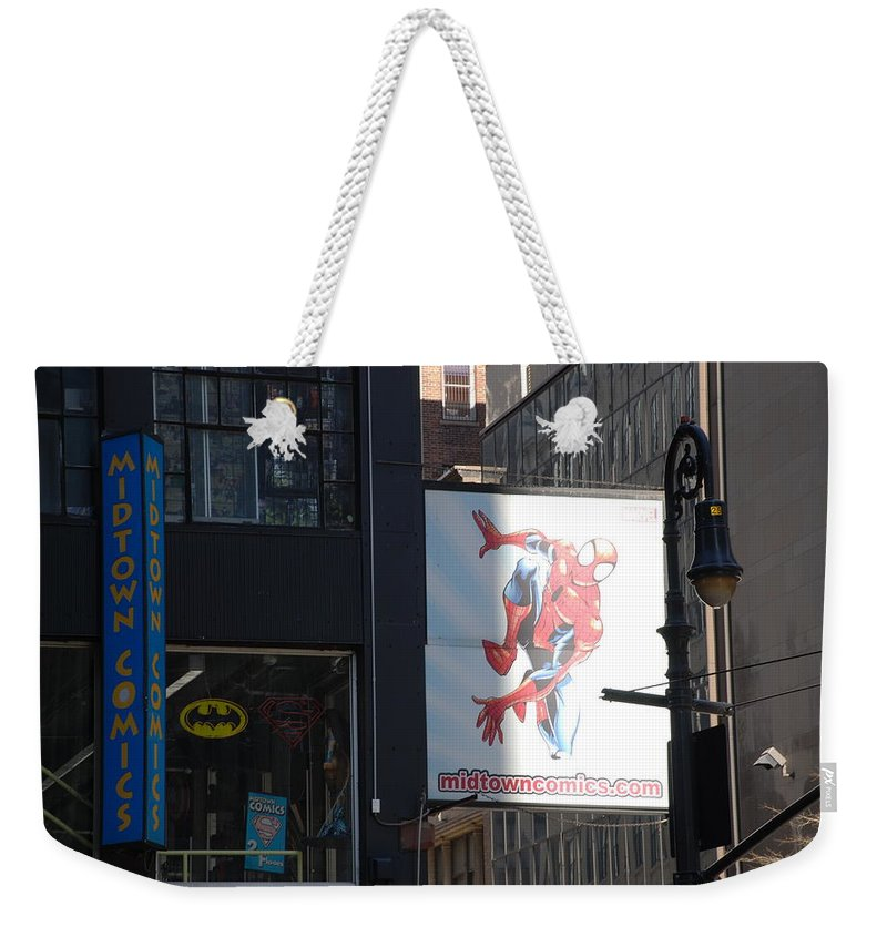 Comic Book Weekender Tote Bag featuring the photograph Super Heros by Rob Hans
