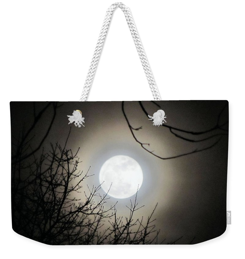 Supermoon Weekender Tote Bag featuring the photograph Super Moon by September Stone