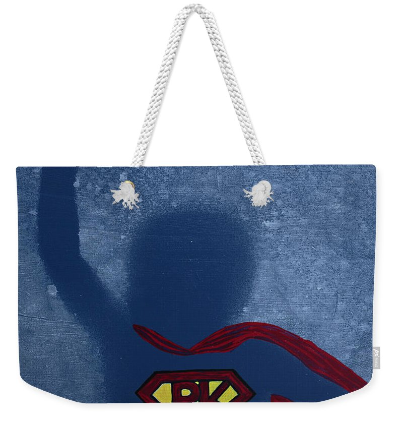 Body Prints Painting Weekender Tote Bag featuring the painting Super Pk by April Kasper