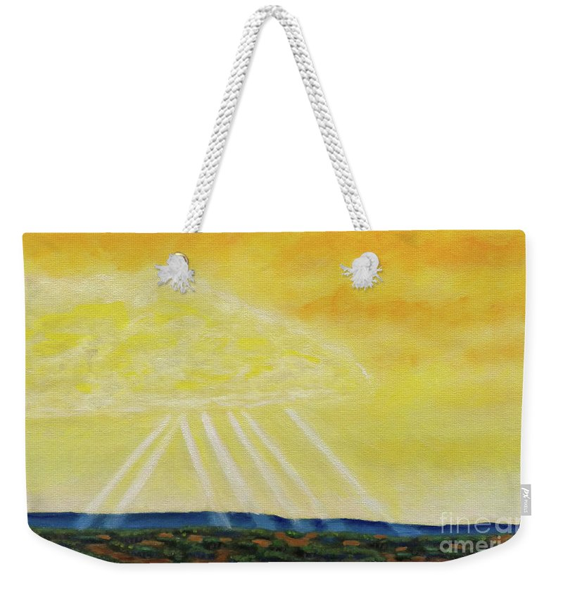 Landscape Weekender Tote Bag featuring the painting Super Seven by Brian Commerford