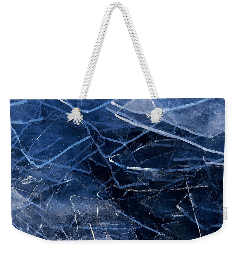 Lake Superior Weekender Tote Bag featuring the photograph Superior Ice by Doug Gibbons
