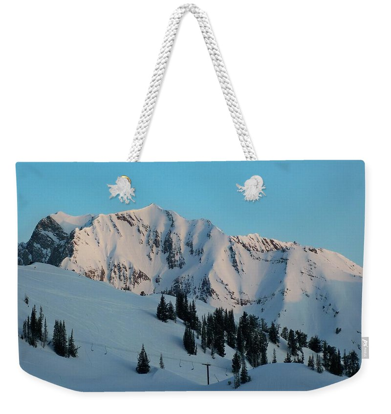 Ski Weekender Tote Bag featuring the photograph Superior Sunrise by Michael Cuozzo