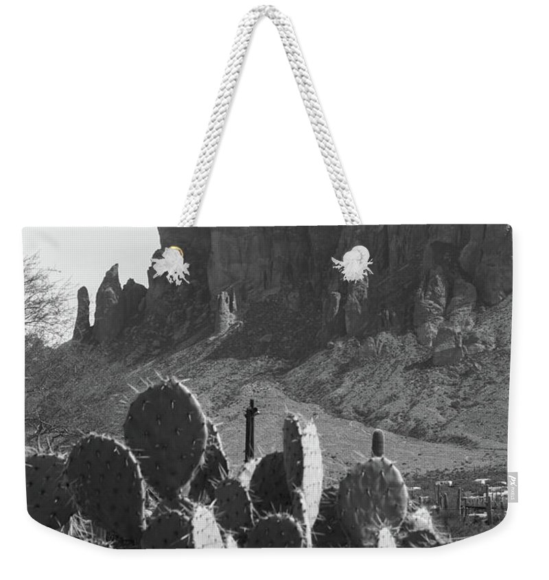Superstition Mountain Weekender Tote Bag featuring the photograph Superstition Mountain 2 by Shelly Priest