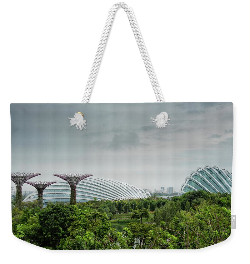 Super Weekender Tote Bag featuring the photograph Supertrees At Gardens By The Bay by Zina Zinchik