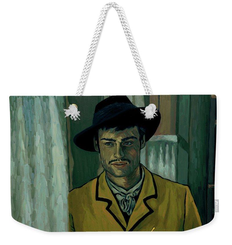 Weekender Tote Bag featuring the painting Sure by Elizabeth Hristova - Lisa