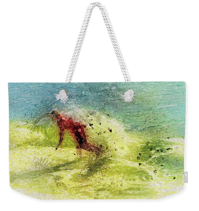 Recent Weekender Tote Bag featuring the photograph Surf Art by Geraldine Scull