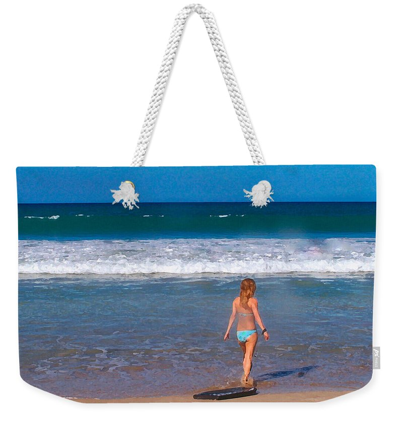 Ocean Weekender Tote Bag featuring the photograph Surf Up by Athala Carole Bruckner