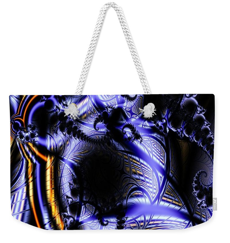 Surface Pattern Weekender Tote Bag featuring the digital art Surface Pattern by Ron Bissett