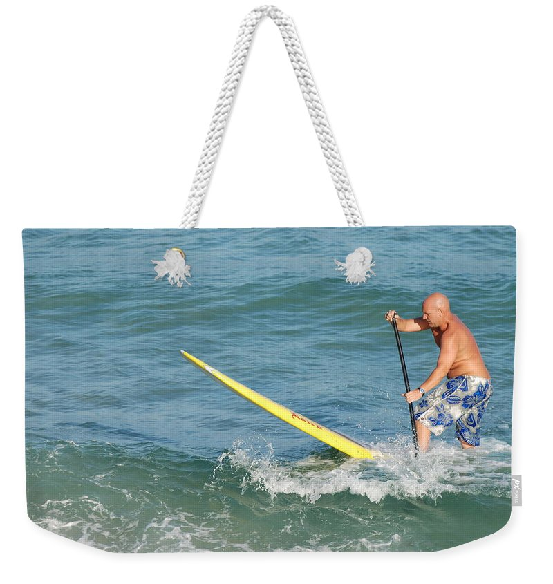 Sea Scape Weekender Tote Bag featuring the photograph Surfer Dude by Rob Hans