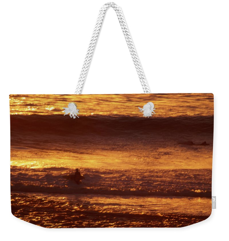Surfer Weekender Tote Bag featuring the photograph Surfing California by Soli Deo Gloria Wilderness And Wildlife Photography