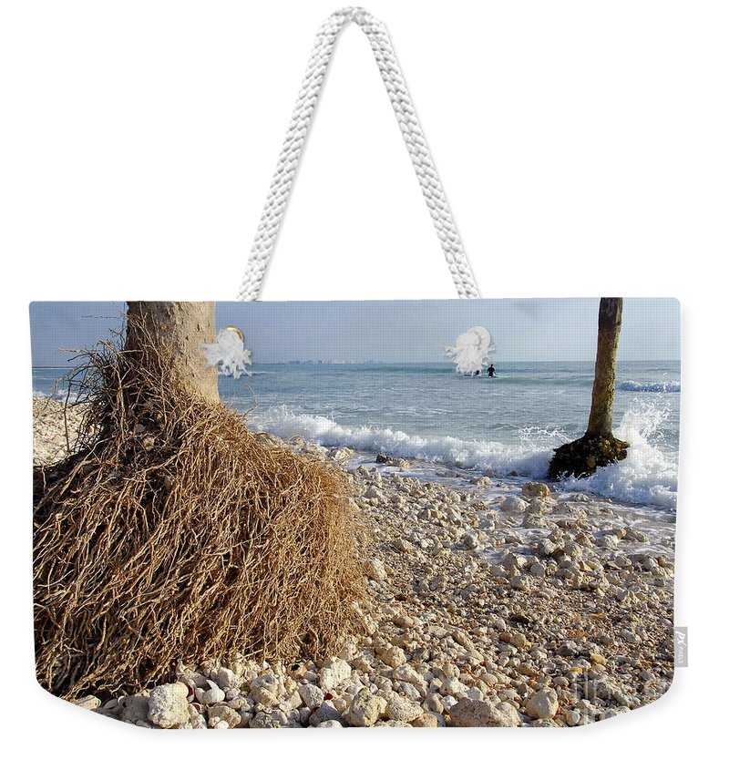 Surfing Weekender Tote Bag featuring the photograph Surfing With Palms by David Lee Thompson
